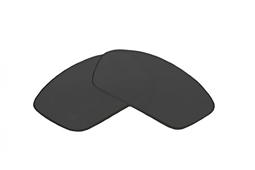 SFx Replacement Sunglass Lenses fits Arnette AN4076 Infamous 62mm wide (Ultimate Black Hardcoated ()