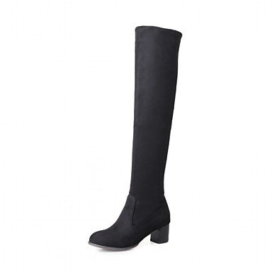 DESY Mujer Zapatos Semicuero Primavera Invierno Confort Innovador Botas de Moda Botas Tacón Robusto Dedo redondo Botines/Hasta el Tobillo