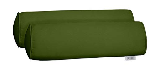 tdoor Set of 2 Corded Bolster Neckroll Pillows Made from Performance Ivy Velvet Fabric- Choose Size (24