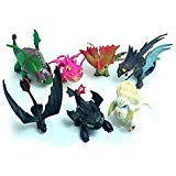 (Max Fun Set of 7 Pcs How to Train Your Dragon Night Fury Toothless Action Figures Child Toys Cake)