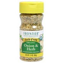 Frontier Organic Salt Free Onion and Herb Seasoning, 2.4 Ounce - 6 per case.