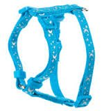 Whisker City Reflective Cat Harness (Teal Moons)