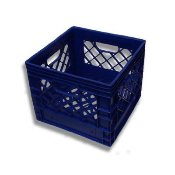 16qt New Plastic Milk Crates Blue Color