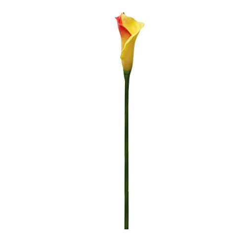 Lemoning❤ Artificial Flower Artificial Calla Lily Fake Flower Wedding Home Decor Bouquet ()