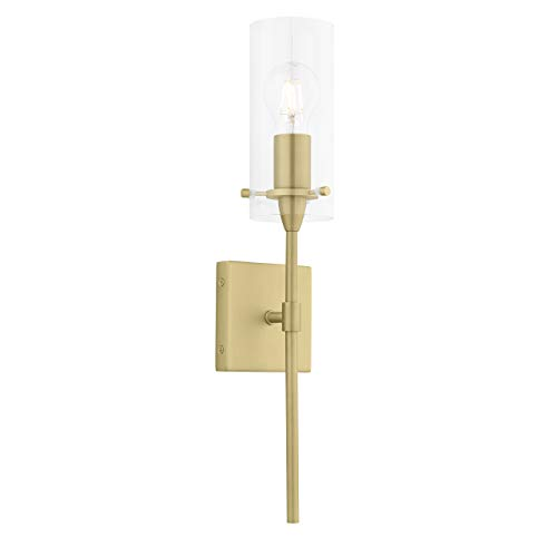 Effimero Wall Sconce | Satin Brass Vanity Light Fixture - Antique Wall Gold Sconce