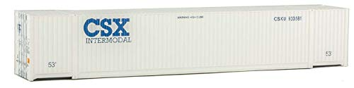 Walthers SceneMaster 53' Singamas Corrugated Container CSX (White) - Assembled Train Collectable Train