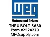 WEG THRU BOLT-SA80 THRU BOLT FOR SAW ARBOR 80 Motores (Pack of 4)