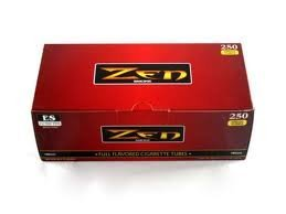 Zen Full Flavor 100mm Cigarette Tubes (250 Ct/box) ONE CASE =40 Boxes