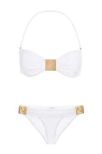 - Komplique Luxury Women's Two Piece Swimsuit Status Liberer (Alabaster, XL)
