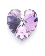 Heart Focal Bead - SWAROVSKI ELEMENTS Swarovski 6228 Top Hole Heart Beads, Crystal Effects, Light Vitrail, 14mm, 14-mm,