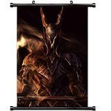Gaming Wall Posters, Dark Souls Sword Armor Look Smoke Home Decor Wall Scroll Poster