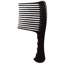 L.A. Beauty Jumbo Rake Handle Comb Untangle Black