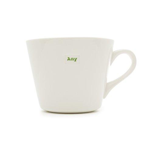 Keith Brymer Jones Standard Bucket Mug 'Amy', 0.35L, Porcelain, White, 12.5 x 10 x 8 cm ()