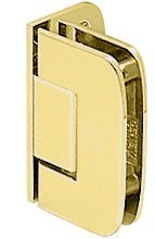CRL Roman 044 Series Brass Wall Mount Offset Back Plate Hinge
