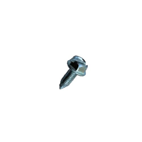 Donkey Auto Products License Plate Screws - 6mm X 16mm - Slotted Hex Head - Metric (100 Per Box)