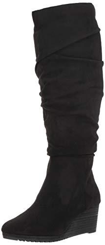 Dr. Scholl's Shoes Women's Central Calf Knee High Boot, Black Microfiber, 9 Medium/Wide Shaft ()