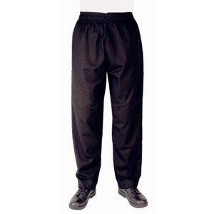 Vegas Black Chefs Trousers Polycotton. Size L (38 - 40'').