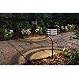 - Hampton Bay Solar Bronze Outdoor Integrated LED New Age Pagoda Landscape Path Light (2-Pack)
