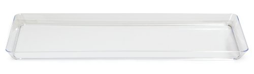 Creative Converting 15.5-Inch Rectangle Plastic Serving Tray, Clear ()