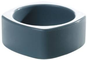 Bumkins Nixi Quadro Silicone Teething Bracelet, Gray (Discontinued by Manufacturer)