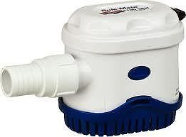 Rule Mate RM1100A Automated Bilge Pump, No Float Switch Required, 1100 GPH, 12 Volt