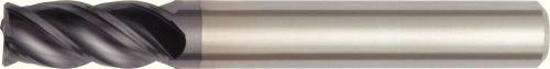 WIDIA Hanita TF4V0505000 VariMill I 4V05 HP Finish/Rough End Mill, 0.01'' Chamfer, 0.625'' LOC, 0.1875'' Cutting Diameter, Carbide, TiAlN, RH Cut, 4-Flute