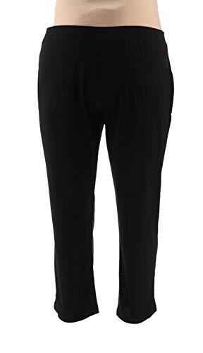 Susan Graver Essentials Liquid Knit Straight Leg Pants Black PXXS New A228084 from Susan Graver
