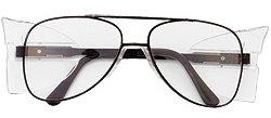 Mcr Safety Glasses Engineer - Crews (MCR Safety Glasses) 62110 - Engineer Safety Glasses - Scratch Resistant, Clear Lens, Black Frame/Temple Color, Polycarbonate, Universal Size, Provides UV Protection, ANSI Z87x2, Pack of 15