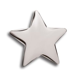 Silver Star Lapel Pins - Set of 10 Office & Classroom Recognition Pins by Trainers Warehouse (Image #1)