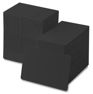 (Black 30 mil CR80 Graphic Quality PVC Cards)