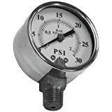Pressure Gauge, 0-30 psi