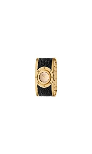 Gucci Twirl Gold Dial Ladies Two Tone Bangle Watch - Gucci For Ladies