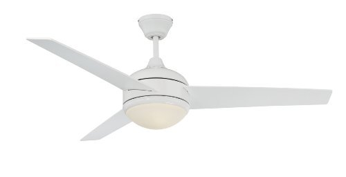 Concord 52SKY3EWH Ceiling Fans with Opal Glass Shades, White Finish