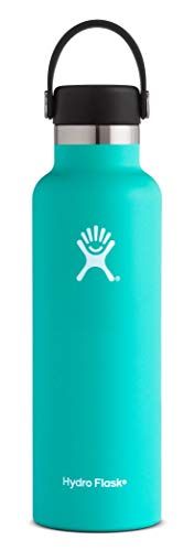 Hydro Flask 21 oz Water Bottle | Stainless Steel & Vacuum Insulated | Standard Mouth with Leak Proof Flex Cap | Mint