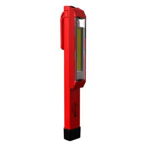 "Nebo - ""Larry C"" Red 170 Lumens C-O-B LED Power Work Light Flashlight (3 AAA Batteries Included)"