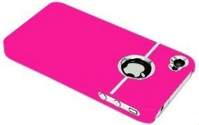 avci Base TPU Bumper Coque pour Apple iPhone 4/4S Chrome Pink