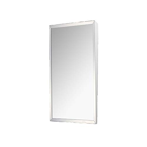 Ketcham FTM-1630 Accessible Mirror Series Surface Mounted Stainless Steel Framed Mirror, 16 x 30