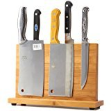 QIKE Bamboo Magnetic Knife Block Stand Holder Strong Magnetic to Ensure Security