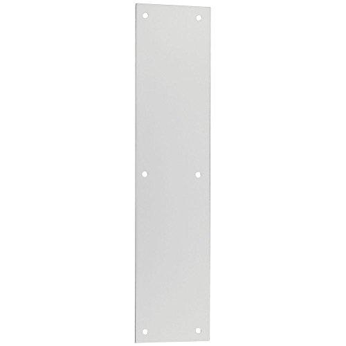 National Hardware N207-878 V1981 Push Plate in Satin Nickel