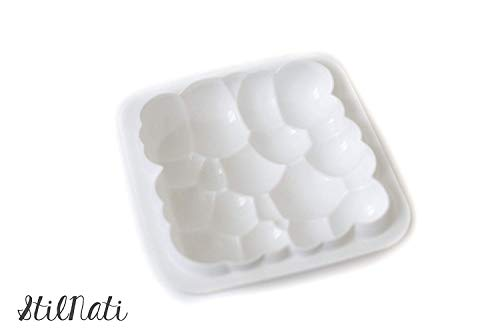 Stilnati brand 1 pcs 3D bubbles sky cloud silicone cake mold white color, baking mold, mousse chiffon pastry cakes, pan, biscuit, candy, ice cream, jelly, brownie, cookie -