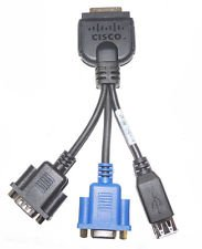 Cisco C210 Server KVM VGA Dp9 Rs232 USB Jack Cable Rev.a0 45437 37-1016-01