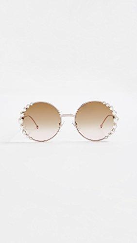 Fendi-Womens-Round-Pearl-Frame-Sunglasses