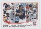 Buster Posey; Andrew McCutchen; Ryan Braun; Bud Podbielan; Andy McGaffigan Bud Podbielan, Andy McGaffigan (Baseball Card) 2013 Topps - [Base] - Andy Braun
