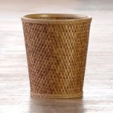 Lamont Home Carter Round Wastebasket, Cappuccino by Lamont Limited