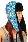 "Hello Kitty Sanrio 50th Anniversary ""Hello Kitty and Friends All Over Print"" Pilot Hat (Cap)"