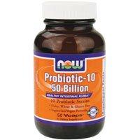 Maintenant les aliments probiotiques végétarien Capsules probiotiques-10 25 milliards, compter de 100