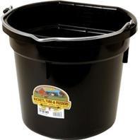 Bucket 20 Flat Quart - DPD Little Giant Plastic Flat Back Bucket - 20 Quart - Black - 1 Bucket