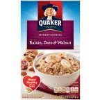 Quaker Instant Oatmeal Raisin Date & Walnut 13 OZ (Pack of 24) by Quaker