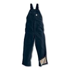 (Carhartt 101626-410-38X32 FR44 Men s Dark Navy Flame-Resistant Duck Bib Overall/Quilt Lined, 38x36, Navy, 38x32)