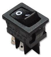 ITT CANNON DM62J12S205PQ SWITCH, ROCKER, DPST, 10A, 250A, BLACK (Switch Itt)